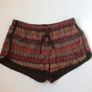 UO ecote Melissa flame print shorts gym crochet